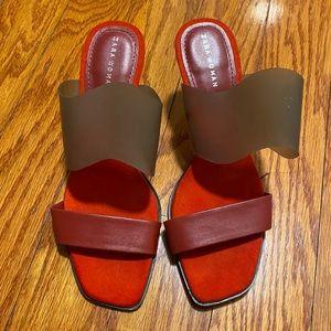 Zara Slide Heel Stappy Sandal